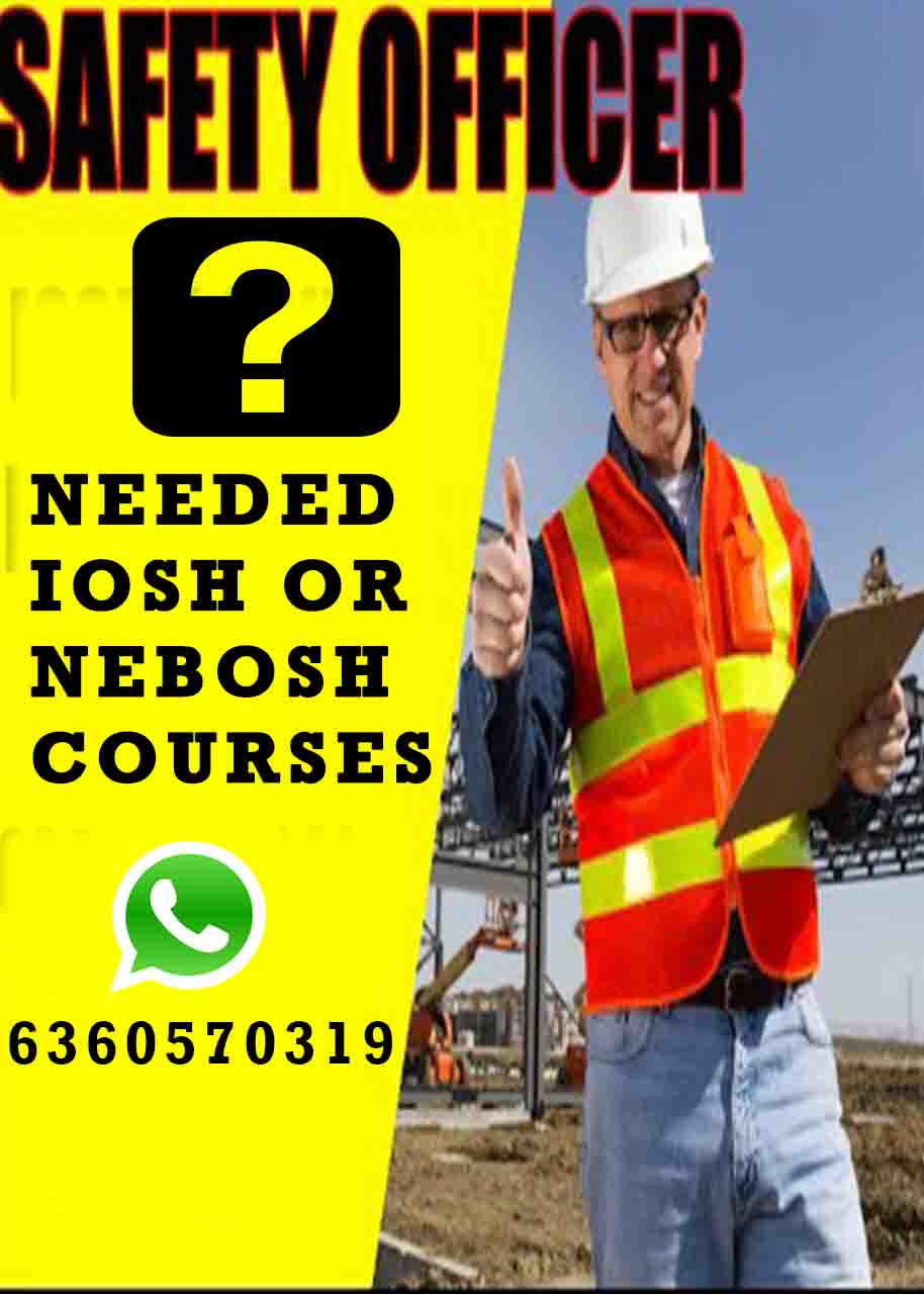 Why safety officer needed Iosh or NEBOSH courses